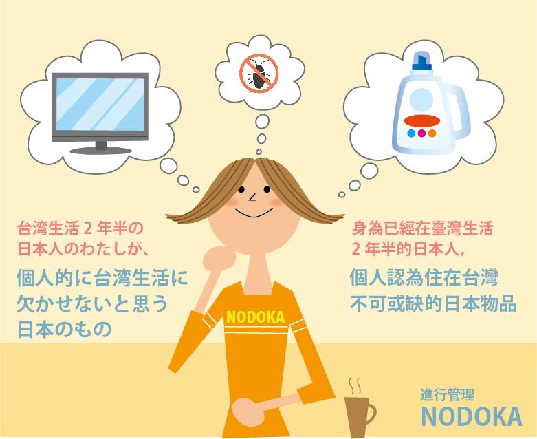 身為已經在臺灣生活2年半的日本人,個人認為住在臺灣不可或缺的日本物品